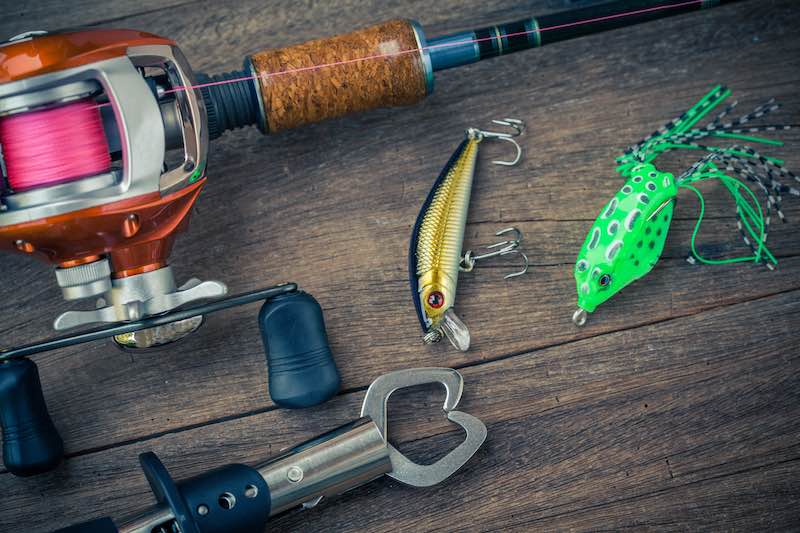 Bait casting fluorocarbon line and other various bait casting gear